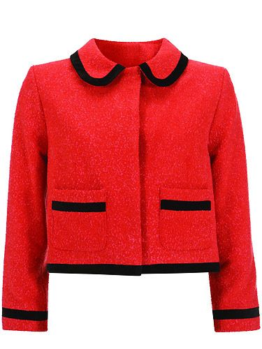 "Blame Kate Middleton for our obsession with this jacket, she brought the navy version recently and it's all sold out now. Fear not though, we now have this red one to lust over  <p>£110, <a href=""http://www.topshop.com/"">Topshop</a></p>"