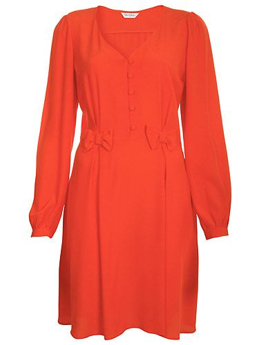 "The bows make this dress! Of course we adore the crimson shade but those bows are too cute! Wear this with T-bar shoes (the newest shoe trend for AW) and you'll create chaos wherever you go  <p>£45, <a href=""http://www.missselfridge.com/"">Miss Selfridge</a></p>"