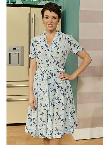 A very sensible, motherly look for our Dannii as she graces ITV's 'This Morning' show. Hmm - possibly not one of her finest looks, but she does look sweet! If Dannii was offering us home-made treats, we certainly wouldn't decline!