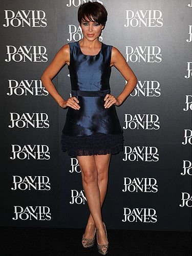 <p>Proving that navy is the new black, Dannii Minogue looks gorgeous in her navy blue frock. Before the drama-rama of her love-life, Dannii Minogue took herself to the the season launch of David Jones in Sydney, Australia. We love the matching navy-blue smokey eye too</p>