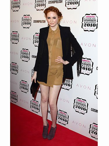 We loved the sheer dress Karen Gillan wore to 2010's Ultimate Women Awards, teamed with a chic Heidi plait. No wonder our Dr. Who gal won Ultimate UK TV Actress