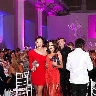 Look how ravishing these two ladies looking in red! X Factor judge and ex-contestant Cher Lloyd owned the floor - hasn't Cher's style evolved lately?