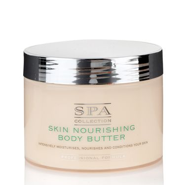 """<p>Wrap skin up in a thick and creamy lotion as soon as you've jumped out the shower – we love the luscious Spa Collection Body Butter from Marksies and it smells delish too! </p><p>£9.50 <a href=""""http://www.marksandspencer.com/Collection-Skin-Nourishing-Butter-350ml/dp/B001VB32SO"""" target=""""_blank"""">marksandspencer.com</a> </p>"""