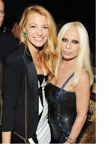 "You can tell Blake Lively loves being in such close proximity to Donatella, ""I am such a fan of Versace. The fits for a woman's body are incredible. I'm also a huge fan of H&M. To have Versace at H&M is the best."" Ok, ok we get it Blake!"