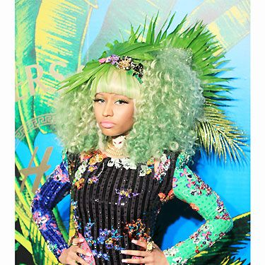 Of course Nicki Minaj turned up the Versace for H&M party, this event had her name all over it! With her colourful outfit and bright green hair, we have to wonder if she has any more tricks up her sleeve?