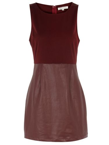 "<p>If <em>Twilight</em> and <em>True Blood</em> have taught us anything this year, it's that being just a little bit devil-may-care vampish is ALWAYS a good look. Emulate the effortless style of those fanged fitties with this gorgeous red-wine leather dress; perfect for adding drama to your winter wardrobe!</p> <p>£33, <a href=""http://www.dorothyperkins.com"">Dorothy Perkins</a></p>"
