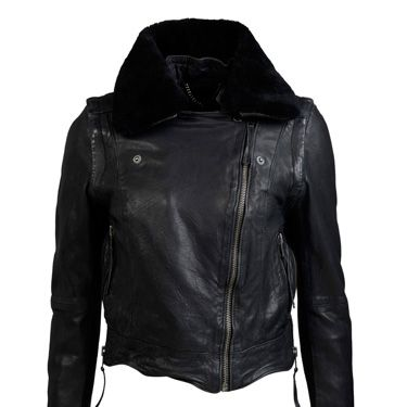 """<p>What girl can possibly be without the black leather jacket? A timeless wardrobe staple, it racks up your fashion credentials without looking too try too hard! Try out this sexy version of the classic.</p><p>£300, <a href=""""http://www.muubaa.co.uk"""">Muubaa</a></p>"""