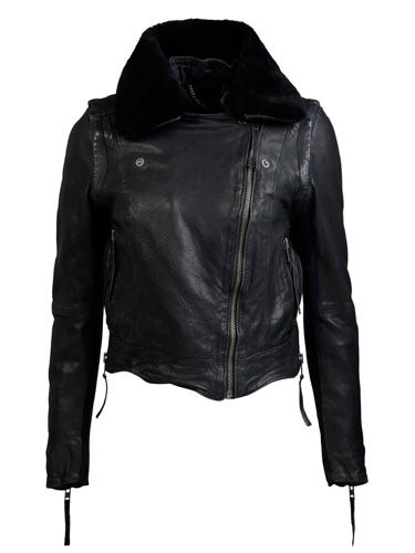 "<p>What girl can possibly be without the black leather jacket? A timeless wardrobe staple, it racks up your fashion credentials without looking too try too hard! Try out this sexy version of the classic.</p> <p>£300, <a href=""http://www.muubaa.co.uk"">Muubaa</a></p>"