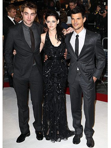 "Cue screaming Twifans… The Twilight Trio, Robert Pattinson, Kristen Stewart and Taylor Lautner hit the red carpet at Westfield Stratford for the European premiere of Twilight Breaking Dawn Part 1. Thousands of fans turned out to get a glimpse of the  three main characters from the Twilight series and they weren't disappointed. RPattz, KStew and Taylor spent hours in the freezing cold chatting to fans, signing autographs and having their pictures taken. Kristen told Cosmo: ""It's amazing to be able to work alongside people who have the same interests as you; the actors, the directors, you know, it's enough working with people that share your passion. But even more so with those fans who support you, having such a connection with fans is amazing - and you've not even met them? It's phenomenal."