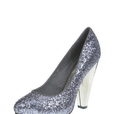 <p> These court shoes will definitely add some zing to your winter wardrobe! The shape and style is ultra-classic, while those slate-grey sequins add a fab modern twist. Definitely the perfect way to update your party dress this season.