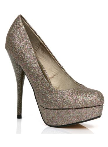"<p> Forget diamonds, these pretty rose-gold glitter shoes are a girl's best friend this season! With absolute skyscraper heels, these are the perfect way to add some subtle bling to your festive ensemble... </p> <p>£49.95, <a href=""http://www.modainpelle.com/"">Moda In Pelle</a></p>"