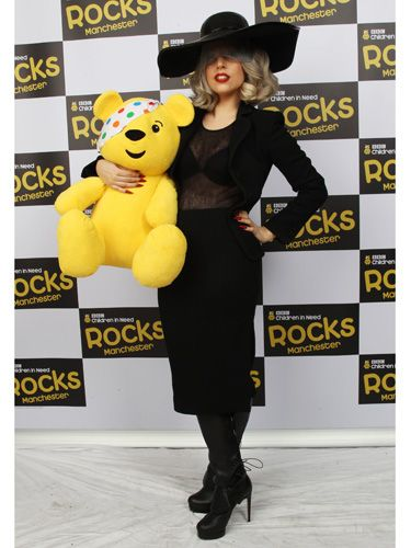 You'd be forgiven for thinking Gaga's got a brand new bag but, for once, it's not a wild accessory! Lady Monster performed Born This Way and Marry The Night in the MEN Arena, before heading backstage for some quality time with Pudsey