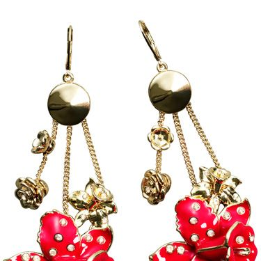 <p> Fancy some Versace in your Christmas stocking? Us too. Thank god for H&M&#x3B; these romantic floral earrings have definitely been amped up to edgy with that bold colour palette.