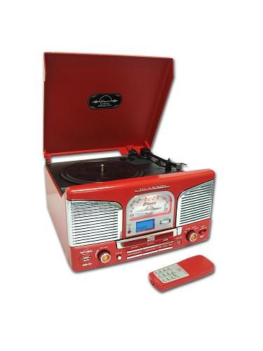 """<p>Stereos are seriously delish', particularly the retro ones. If your friend loves the old school fashion thrill of Grease, this stereo will be 'the one that she wants, ow ow ow, HONEY!'</p>  <p>£109.99, <a href=""""http://www.amazon.co.uk/Inovalley-Red-Styled-recording-playback/dp/B002E9YQKK/ref=sr_1_7?s=electronics&ie=UTF8&qid=1322784263&sr=1-7""""> Amazon</a></p>"""