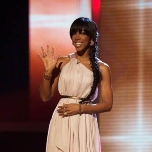 <p>Kelly Rowland looked stunning in a grecian dress . She'll have to put the emotional weekend to rest though as next week she's taking to the stage to perform her attitude pounding dancefloor single 'Down For Whatever.' We can't wait to see what she wears…!</p>