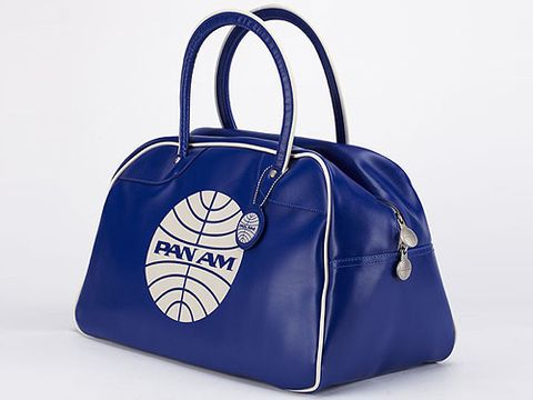 "The planes were glamorous, the pilots heroic and the stewardesses were the most desirable women in the world - that's what Pan Am is all about. If you really want to embrace the Pan Am trend you MUST buy a holdall bag  - perfect for a weekend getaway <p>£39.95, <a href=""http://www.amazon.co.uk/GLOBE-TRAVEL-sports-school-satchel/dp/B004D0GESA/ref=sr_1_1?ie=UTF8&qid=1322234874&sr=8-1"">Amazon</a></p>"