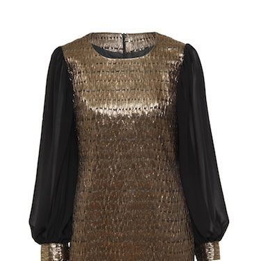 """<p>This is absolutely gorgeous! We're loving the contrast between the rock chick metallic tunic and those oh-so-romantic chiffon sleeves&#x3B; a must-have for any Christmas stocking</p><p>£45, <a href=""""http://www.asos.com"""">ASOS</a></p>"""