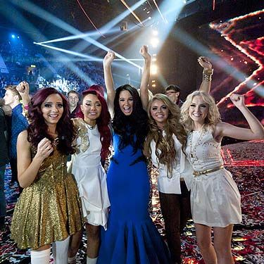 When Dermot said the words 'and the winner is… Little Mix' the girls couldn't hide their shock, amazement and downright joy&#x3B; with their mentor Tulisa they jumped up and down and shrieked. They definitely made the British public feel all warm and fuzzy inside. Go girls
