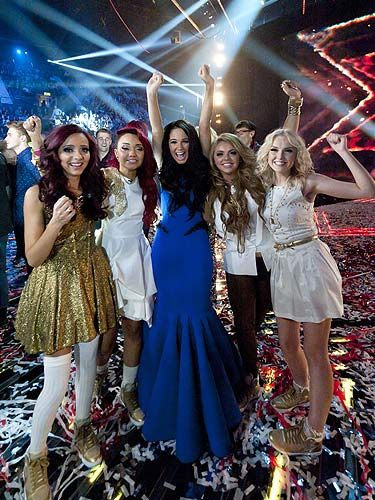 When Dermot said the words 'and the winner is… Little Mix' the girls couldn't hide their shock, amazement and downright joy; with their mentor Tulisa they jumped up and down and shrieked. They definitely made the British public feel all warm and fuzzy inside. Go girls