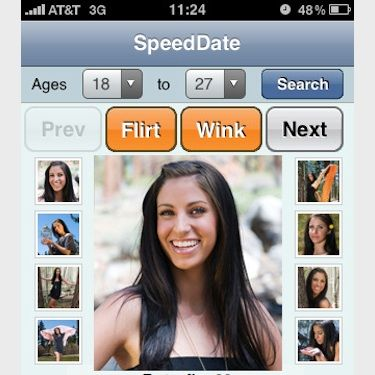 """<p> Amp your flirty up this festive season with the fantastic free speed-dating app. Packed to bursting with cute singles, you can meet up to 15 locals in under an hour... how's that for speed? </p><p>Download your app for free from <a href=""""http://itunes.apple.com/us/app/id303604914?mt=8"""">iTunes</a></p>"""