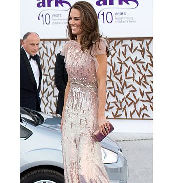 While we all spent six months wondering what her wedding dress would look like, Kate Middleton managed to move on pretty quickly from her McQueen triumph to bring another style stunner out of her wardrobe! This gorgeously glitzy number from Jenny Packham looks fabulous on the new Duchess