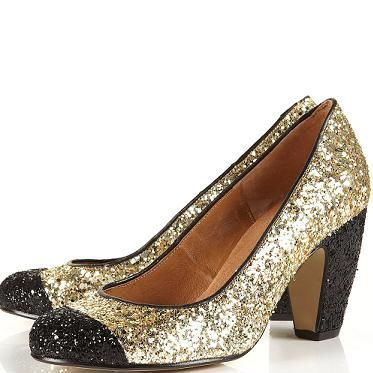 Channel Dorothy and strut down the yellow brick road in a pair of these glittery shoes. Why? Because we don't need to tell you how Miu Miu-esque they are
