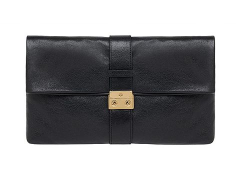 "Say hello to the Harriet clutch in buffalo black, it's Mulberry's newest offering and we are in love. If it's good enough for Olivia Palermo and Kate Bosworth, it's good enough for us! <p>£450, <a href=""http://http://www.mulberry.com/""> Mulberry</a></p>"