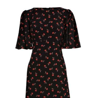 """<p>Now's a good time to stock up on a few transseasonal items that will see you from winter to spring. We love this vintage-inspired frock from Oasis with loose half length sleeves</p><p>Cherry print dress, was £30, now £25, <a href=""""http://www.oasis-stores.com///fcp-product/3470074058"""" target=""""_blank"""">Oasis-Stores.com</a></p>"""