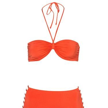 <p>We could imagine Dita Von Teese sporting this red bikini underneath her parasol. High waisted, check. Vintage vibe, check. Sex appeal, double check</p>
