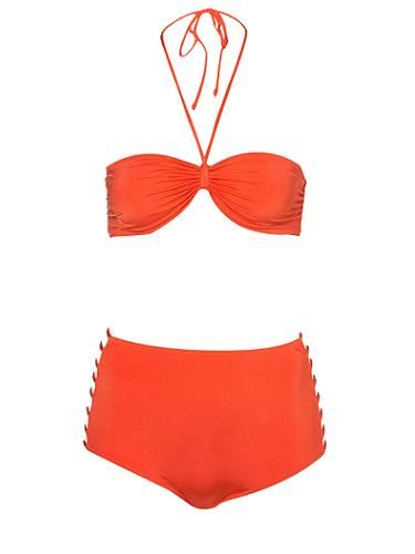 """<p>We could imagine Dita Von Teese sporting this red bikini underneath her parasol. High waisted, check. Vintage vibe, check. Sex appeal, double check</p> <p>Red bikini £32, <a href=""""http://www.topshop.com/webapp/wcs/stores/servlet/ProductDisplay?beginIndex=0&viewAllFlag=&catalogId=33057&storeId=12556&productId=4339932&langId=-1&sort_field=Relevance&categoryId=277012&parent_categoryId=208491&pageSize=200"""" target=""""_blank"""">Topshop</a></p>"""