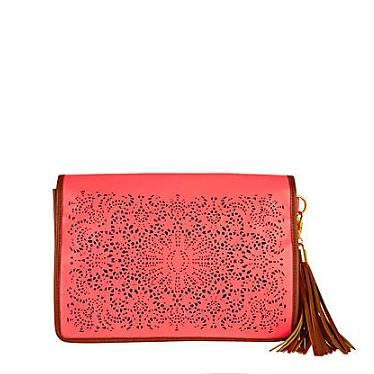 """<p>Oh hello gorgeous clutch bag, come to mama! Warning: If you get this before us, we shall hunt you down</p><p>Laser cut clutch, £28, <a href=""""http://www.riverisland.com/Online/women/bags--purses/clutch-bags/neon-pink-laser-cut-clutch-612619"""" target=""""_blank"""">River Island</a></p>"""