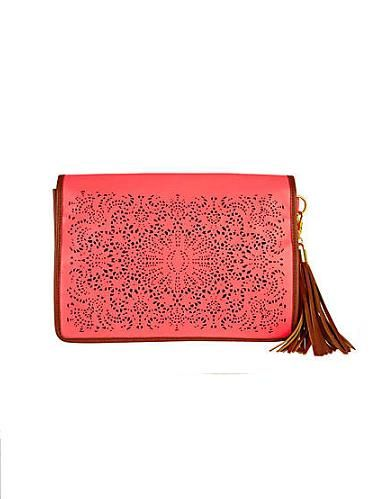 """<p>Oh hello gorgeous clutch bag, come to mama! Warning: If you get this before us, we shall hunt you down</p>  <p>Laser cut clutch, £28, <a href=""""http://www.riverisland.com/Online/women/bags--purses/clutch-bags/neon-pink-laser-cut-clutch-612619"""" target=""""_blank"""">River Island</a></p>"""