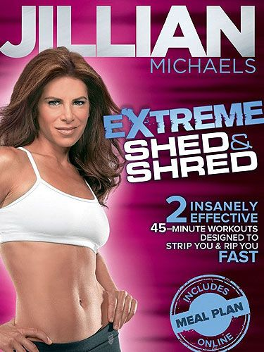 "<p>When it comes to workout DVDs, you can't really go past a Jillian Michaels for the hard core factor.  This bad-ass trainer from The Biggest Loser (although she's moved on to, ahem, bigger things since!) puts you through your paces and promises big results in a short amount of time.</p> <p>While it's hard to improve on her rather brilliant and always motivating <a title=""http://www.amazon.co.uk/Jillian-Michaels-Day-Shred-DVD/dp/B002RNOS2Y/ref=sr_1_1?s=dvd&ie=UTF8&qid=1355763561&sr=1-1"" href=""http://www.amazon.co.uk/Jillian-Michaels-Day-Shred-DVD/dp/B002RNOS2Y/ref=sr_1_1?s=dvd&ie=UTF8&qid=1355763561&sr=1-1"" target=""_blank"">30 Day Shred</a>, this new offering from Jillian is a fab addition to your fitness DVD collection.  </p> <p>She does her typical combinations of strength and cardio but introduces lots of new moves to keep you guessing...and groaning!  There's everything from kickboxing to yoga to Brazillian Jui-Jitsu to get your heart racing, your biceps quivering, your legs aching and your endorphins sky high.</p> <p>There are two 45 minute workouts - you can do one or the other or...she dares you...both!</p> <p><strong>Philippa Moore</strong></p> <p><span id=""btAsinTitle"">Jillian Michaels - Extreme Shed and Shred</span>, £7, <a title=""http://www.amazon.co.uk/Jillian-Michaels-Extreme-Shed-Shred/dp/B008AVVI3O/ref=sr_1_1?s=dvd&ie=UTF8&qid=1355739779&sr=1-1"" href=""http://www.amazon.co.uk/Jillian-Michaels-Extreme-Shed-Shred/dp/B008AVVI3O/ref=sr_1_1?s=dvd&ie=UTF8&qid=1355739779&sr=1-1"" target=""_blank"">Amazon</a></p>"