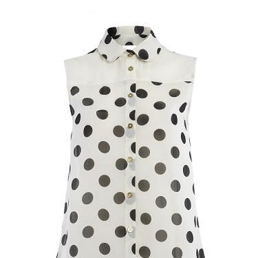"""<p>Primark are dotty for spots this season. We'll be wearing this with navy cigarette trousers and a blazer. Nautical chic darling</p><p>Blouse, <a href=""""http://www.primark.co.uk/"""" target=""""_blank"""">Primark</a></p>"""