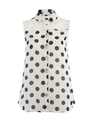 "<p>Primark are dotty for spots this season. We'll be wearing this with navy cigarette trousers and a blazer. Nautical chic darling</p>  <p>Blouse, <a href=""http://www.primark.co.uk/"" target=""_blank"">Primark</a></p>"