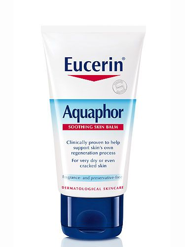 "<p>a multi-purpose balm that heals and repairs with a conditioning vitamin B derivative and soothing chamomile, £8.50 at <a href=""http://www.boots.com/en/Eucerin-Aquaphor-Soothing-Skin-Balm-40ml_1235541/"" target=""_blank"">Boots.com</a><br /><br /></p>"