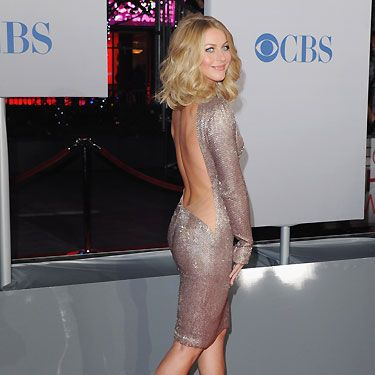 The Footloose star shimmered on the red carpet at the People's Choice Awards. She showed off her amazing dancers body in a metallic dress which clung to her curves and showed off the length of her back