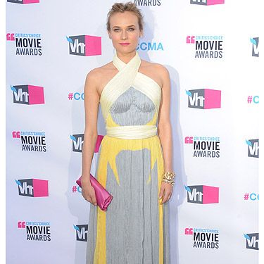<p>The best-dressed award of the night goes to Ms Diane Kruger in this exquisite Prada dress. She teamed her floor-length frock with a contrasting pink clutch and a slick of pink lippy - uber pretty</p>