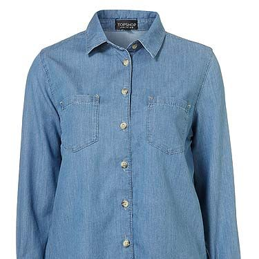 """<p>A denim shirt is easily a wardrobe staple. This one, with its deep pockets and fitted design will be one of those 'how did i live without it?' items</p><p>Denim shirt, £30, <a title=""""http://www.topshop.com/webapp/wcs/stores/servlet/ProductDisplay?beginIndex=0&viewAllFlag=&catalogId=33057&storeId=12556&productId=4531100&langId=-1&sort_field=Relevance&categoryId=277012&parent_categoryId=208491&pageSize=200"""" href=""""http://www.topshop.com/webapp/wcs/stores/servlet/ProductDisplay?beginIndex=0&viewAllFlag=&catalogId=33057&storeId=12556&productId=4531100&langId=-1&sort_field=Relevance&categoryId=277012&parent_categoryId=208491&pageSize=200"""" target=""""_blank"""">Topshop</a></p>"""