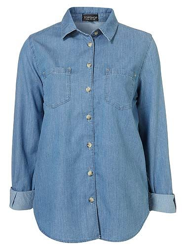 "<p>A denim shirt is easily a wardrobe staple. This one, with its deep pockets and fitted design will be one of those 'how did i live without it?' items</p> <p>Denim shirt, £30, <a title=""http://www.topshop.com/webapp/wcs/stores/servlet/ProductDisplay?beginIndex=0&viewAllFlag=&catalogId=33057&storeId=12556&productId=4531100&langId=-1&sort_field=Relevance&categoryId=277012&parent_categoryId=208491&pageSize=200"" href=""http://www.topshop.com/webapp/wcs/stores/servlet/ProductDisplay?beginIndex=0&viewAllFlag=&catalogId=33057&storeId=12556&productId=4531100&langId=-1&sort_field=Relevance&categoryId=277012&parent_categoryId=208491&pageSize=200"" target=""_blank"">Topshop</a></p>"