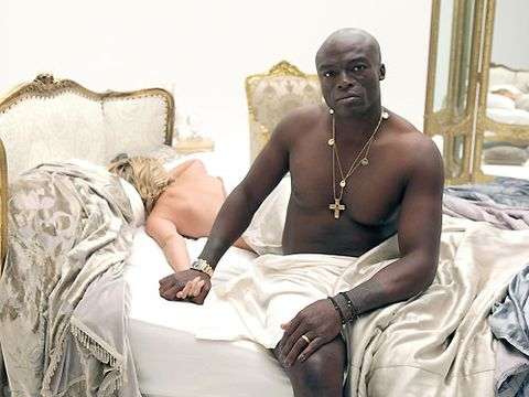 If we weren't so gutted about the end of Heidi and Seal's marriage we'd be laughing our heads off looking at this picture of the couple back in 2010. You know it's true love when your wife agrees to star in your cheesy music video with you. Get on youtube and press play, pronto