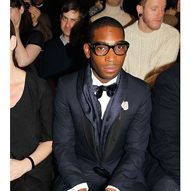 It must've been written in the stars for Tinie Tempah to be seated on Lanvin's front row - how handsome does he look wearing a cute bow tie? With worldwide chart success at the tender age of 23, we bet his ma is truly proud of little Tinie