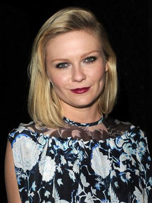 <p>Showing off a momentous side parting and quiff, Kirsten Dunst demonstrates how to get volume into her chic blonde mid-length bob</p>