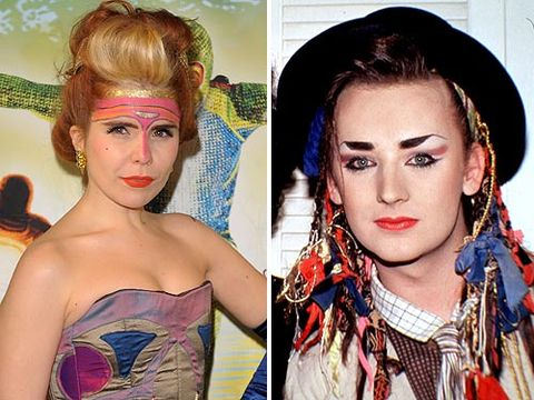 Erm, we reckon these two would have a right laugh together. They're both addicted to quirky, out-there clothes, face paint and push the boundaries. We're positive Paloma would love this comparison with Boy George, now she just needs a bowler hat