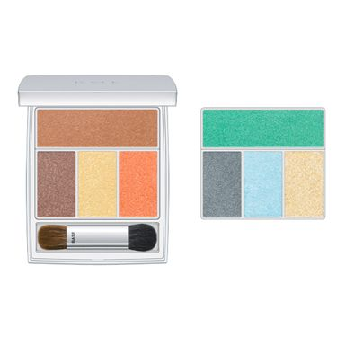 """<p>Chic makeup brand RMK has sprinkled pastel hues over its palettes for a truly romantic feel. Wear with a clean, simple base, lightly blushed cheeks and a wash of marine green or blue on the eyes, layered up or down for day or night</p><p><strong>Copy the catwalk: </strong>Wear soft rainbow hues on eyes and lips as seen on the Jaeger London runways</p><p>RMK Sprinkling Eyes sets, £36 each from <a href=""""http://www.lookfantastic.com/brands/rmk/rmk-make-up.list"""" target=""""_blank"""">lookfantastic.com</a> or Selfridges</p>"""