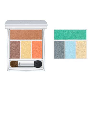 "<p>Chic makeup brand RMK has sprinkled pastel hues over its palettes for a truly romantic feel. Wear with a clean, simple base, lightly blushed cheeks and a wash of marine green or blue on the eyes, layered up or down for day or night</p> <p><strong>Copy the catwalk: </strong>Wear soft rainbow hues on eyes and lips as seen on the Jaeger London runways</p> <p>RMK Sprinkling Eyes sets, £36 each from <a href=""http://www.lookfantastic.com/brands/rmk/rmk-make-up.list"" target=""_blank"">lookfantastic.com</a> or Selfridges</p>"