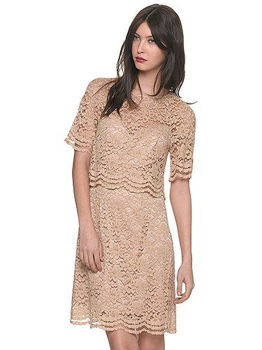 "<p>The trend for lady-like fashion is going nowhere people. Adopt a more classic look with the help of this scalloped edge tiered nude lace dress. We'll be teaming this with minimal jewellery, KMiddy hair and a pair of Jennifer Aniston style strappy sandals<br />Lace dress, £175, <a title=""http://www.whistles.co.uk/fcp/categorylist/dept/shop?resetFilters=true#ID=id_903000057794_newin&category=newin"" href=""http://www.whistles.co.uk/fcp/categorylist/dept/shop?resetFilters=true#ID=id_903000057794_newin&category=newin"" target=""_blank"">Whistles</a></p>"
