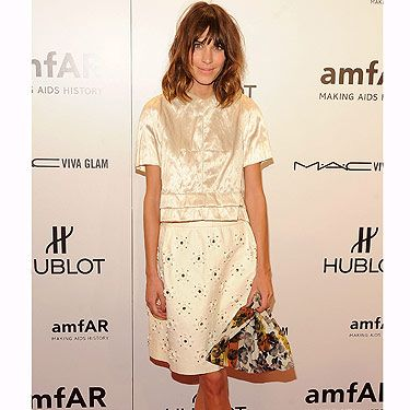 <p>Superstar DJ, muse, designer, presenter, model. God, it's hard to keep up with what Alexa's up to. Check out her on-trend ensemble at the AmFARs, those two-tone shoes are in-credible!</p>