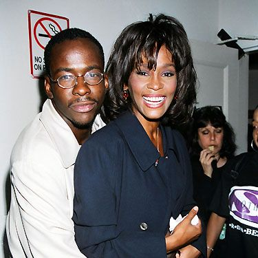 <p>Whitney married her boyfriend of three years Bobby Brown in 1992, who she divorced after a tumultuous marriage fourteen years later. Here they made a united couple at the MTV awards in 1995</p>