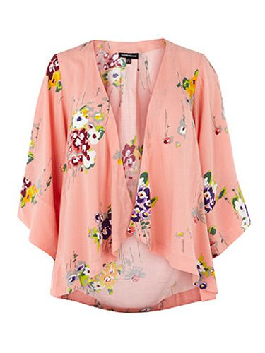 "<p>This kimono-style cover-up is the stuff Shanghai Dreams are made of. What's not to love?</p> <p>Pink floral jacket, £45, <a title=""Warehouse"" href=""http://www.warehouse.co.uk///warehouse/fcp-product/307622"" target=""_blank"">Warehouse</a></p>"